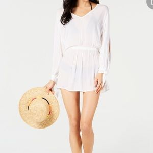 SOLUNA SWIM Solaris Split Sleeve Dress Cover-Up